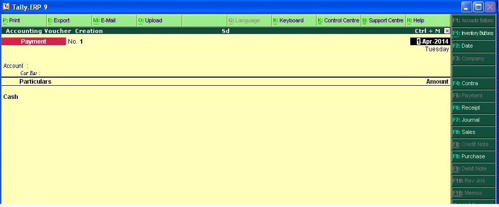 Computer course cr dr not show voucher entry in tally for entry of voucher in cr dr mode first press f12 select voucher entry them in account bar side in second line press n for no like this thecheapjerseys Images