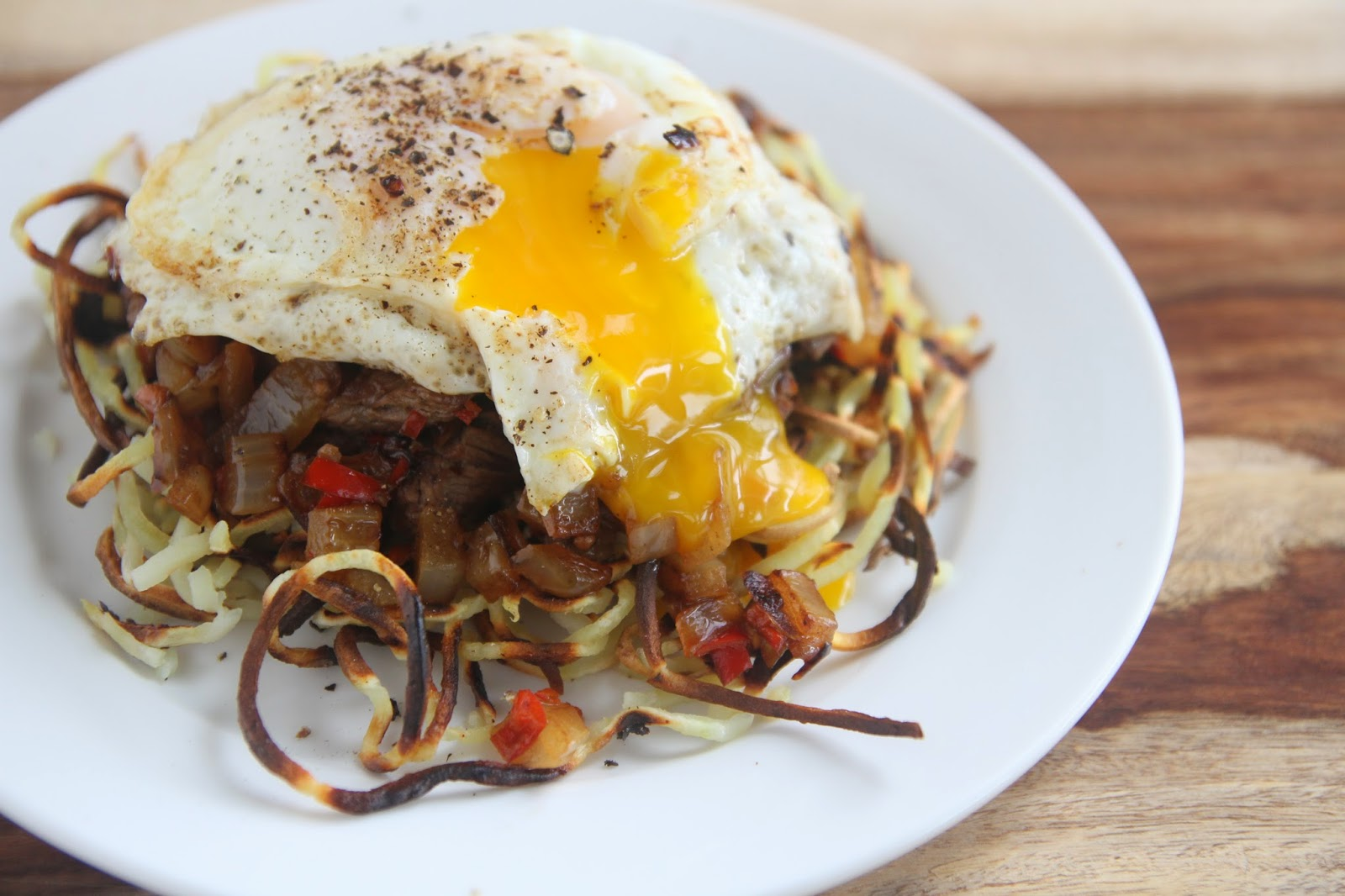 ... steak and eggs add some hashbrowns and whoa amazing so these steak