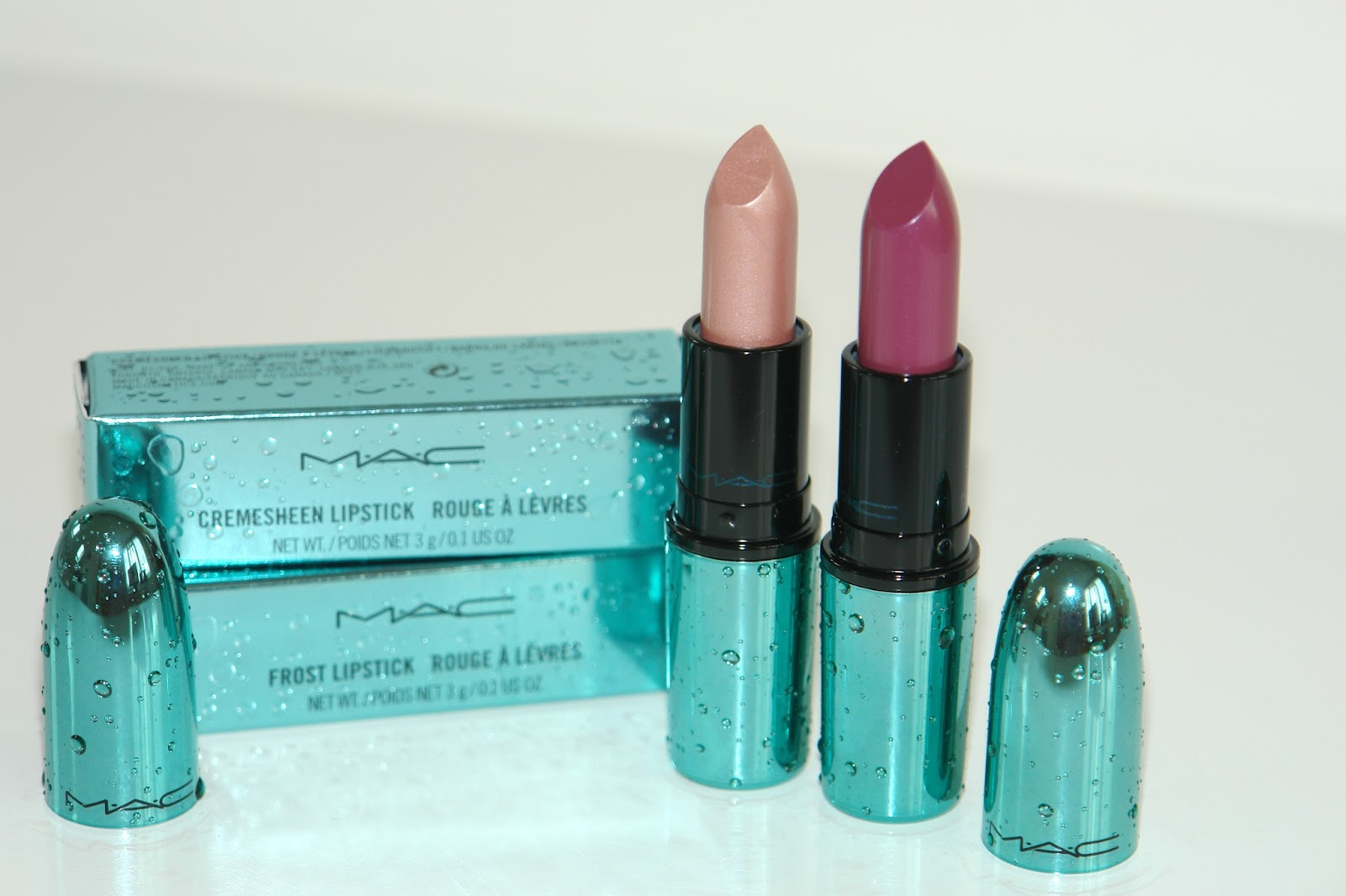 My MAC Alluring Aquatic collection: Pet Me, Please and Goddess of the Sea, MAC, lipstick, make up, review, beauty, Alluring Aquatic, limited edition, swatches, Aqua, MAC, collection, Pet Me, Please, Goddess of the Sea,