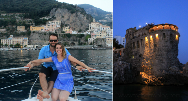 boat ride along amalfi coast and torre nor manna restaurant