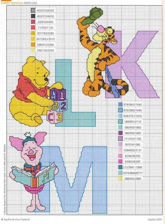 Folli passioni alfabeto winnie the pooh for Winnie the pooh punto croce schemi