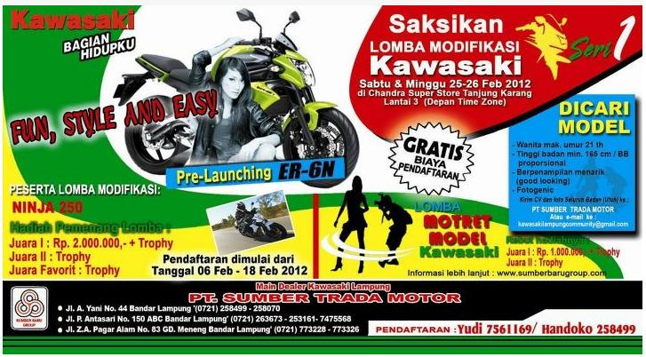 Lomba Modifikasi Ninja 250 Seri 1 Lampung title=