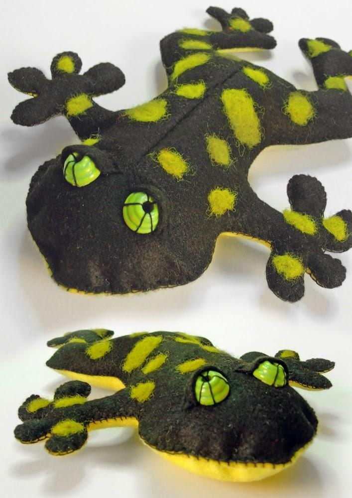 Frog handmade toy