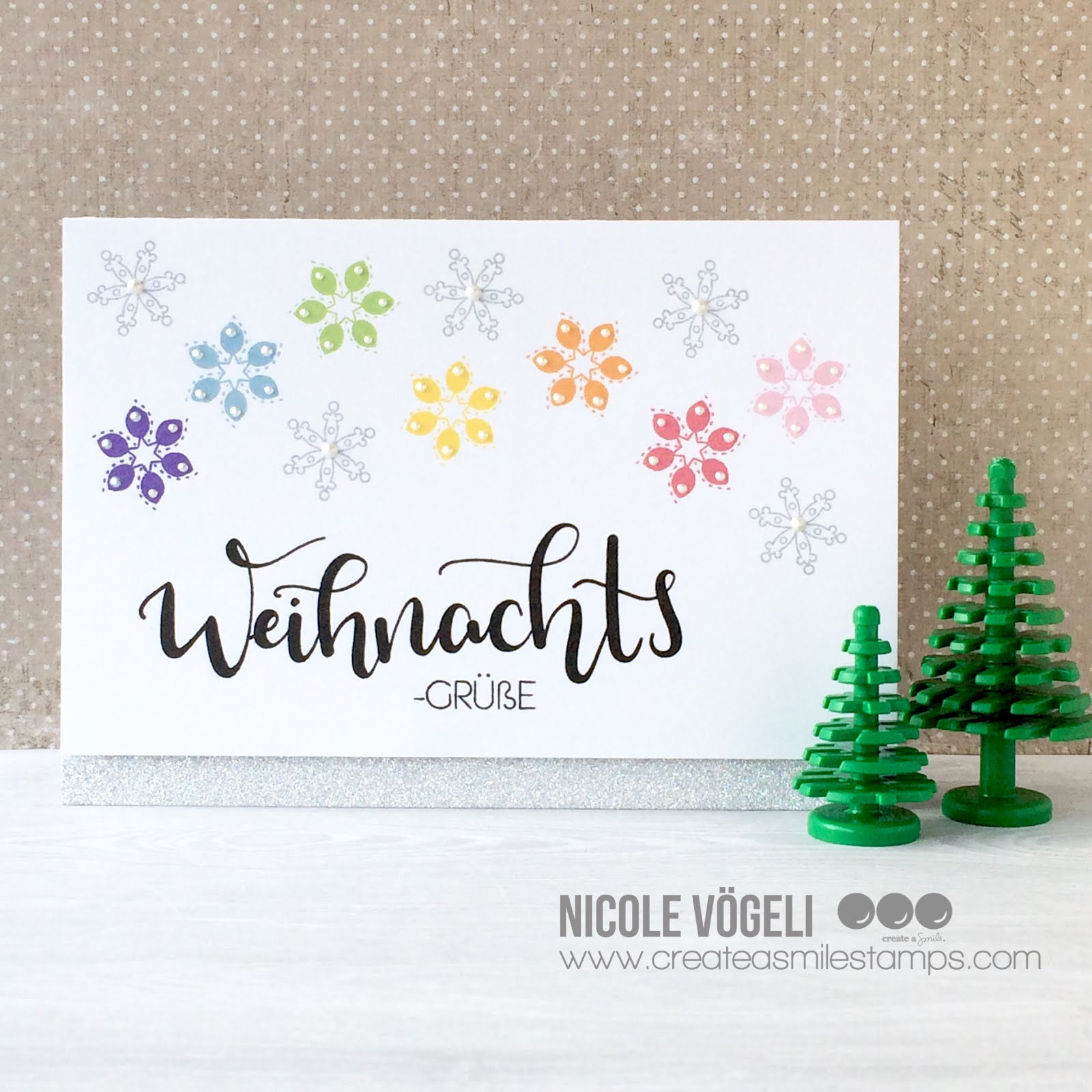 Create a smile: super quick christmas card