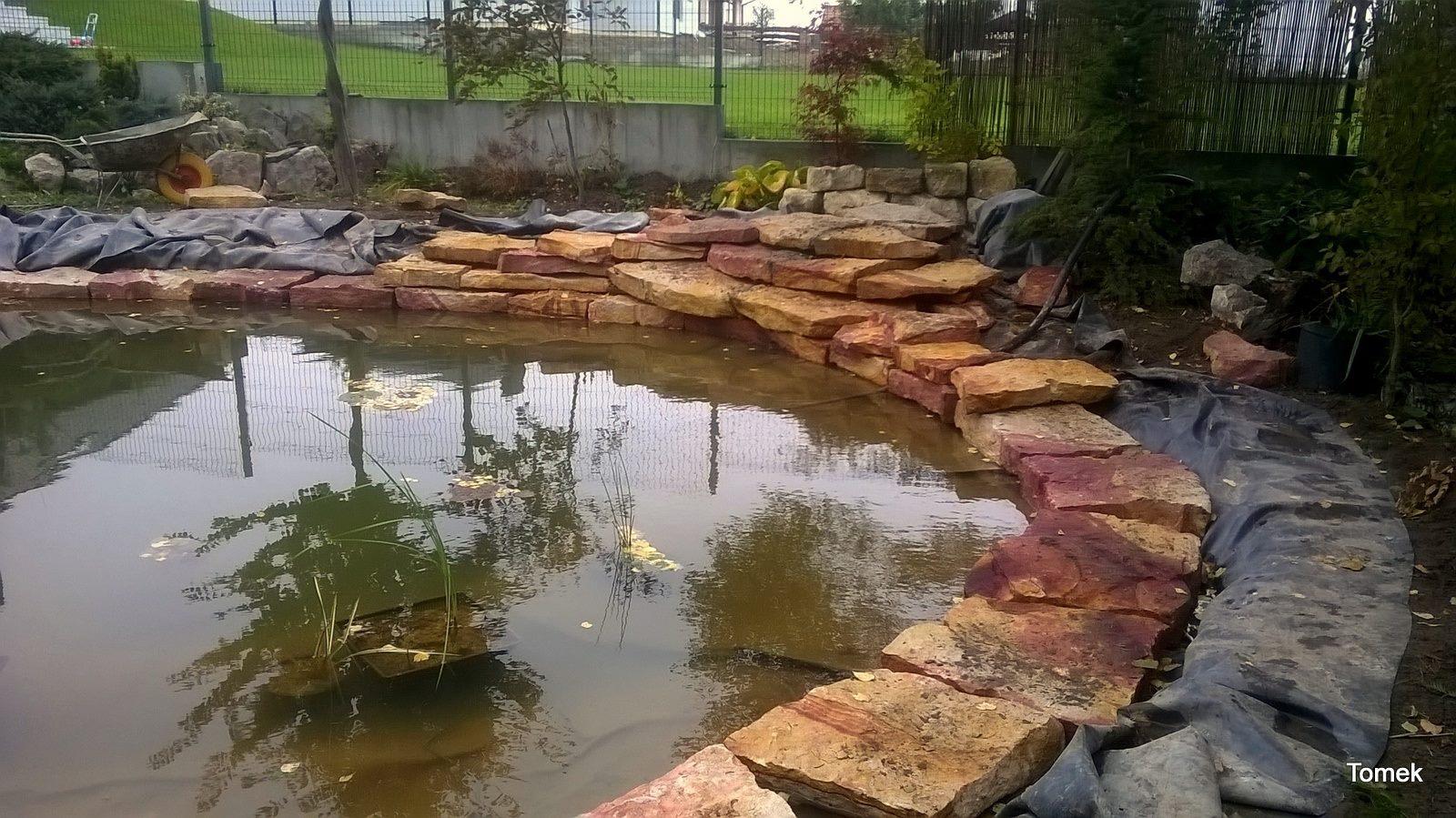 Okolice Kielc - oczko wodne z kaskadą