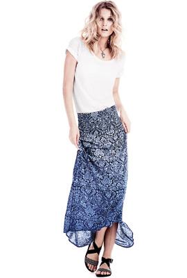 falda larga H&M primavera verano 2013