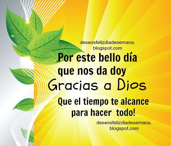 cristianas de agradecimiento de buenos días. tarjetitas cristianas