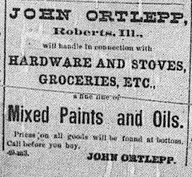 John Ortlepp 1889 Ad