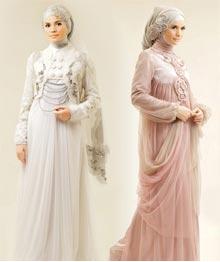 Jilbab Pengantin dengan Gaya Victorian