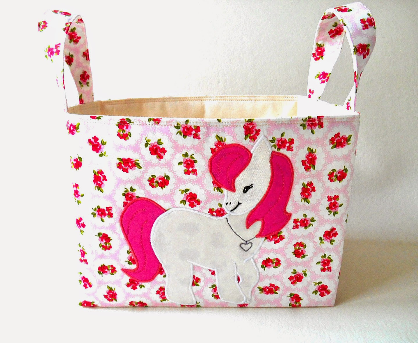 sweet pony horse pink diaper caddy