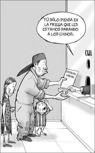 Caricatura de trabajador