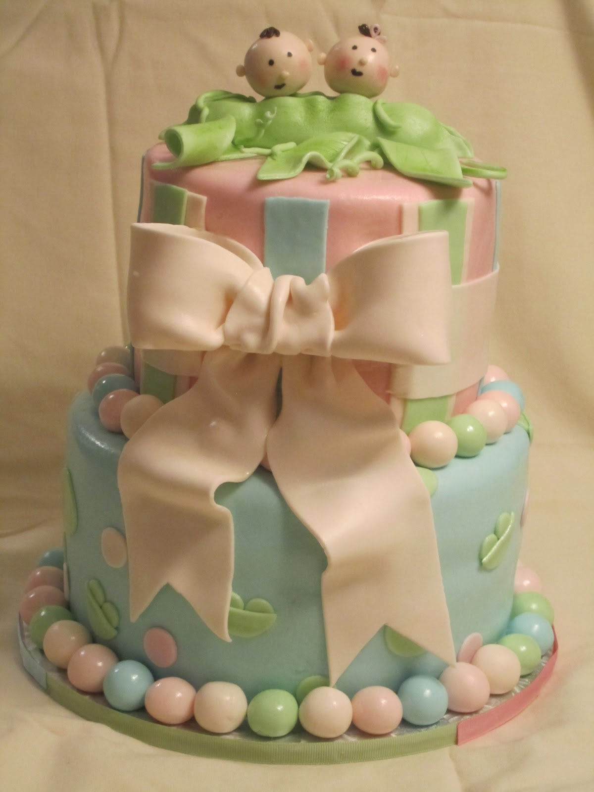 Cakes Something Like That Two Peas in a Pod Shower Cake
