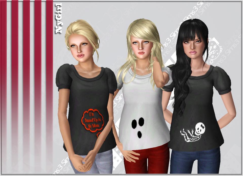 maternity halloween shirts nygirl sims