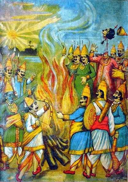 Kurukshetra war, people fighting