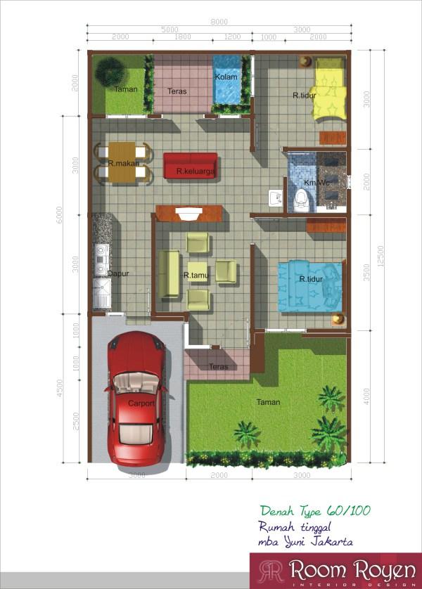contoh gambar denah rumah minimalis terbaru bengkel las