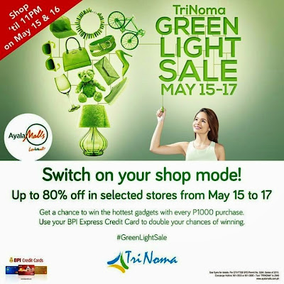 BPI Credit Card: TriNoma Green Light Sale from May 15 to 17, 2015