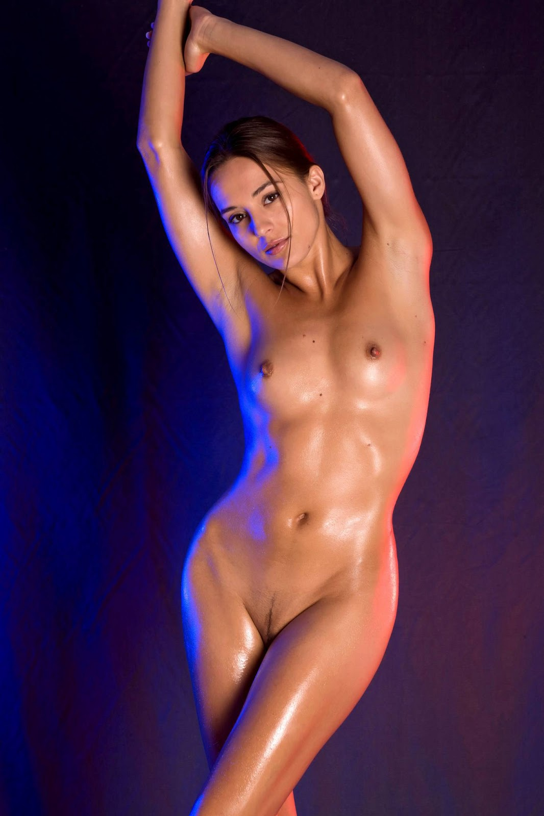 Pictures of hot naked girls with oil on them are