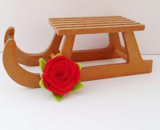 Manualidades para regalar, flor roja