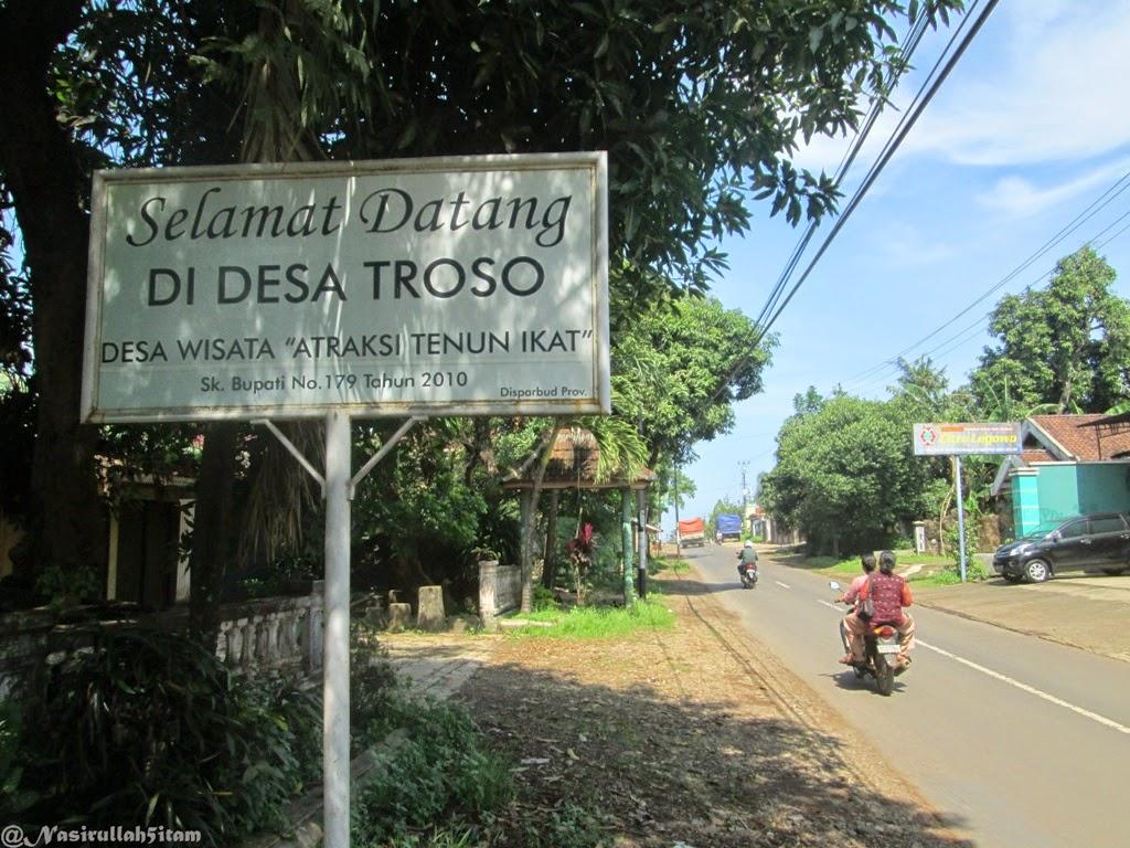 Memasuki desa Troso, Pecangan, Jepara