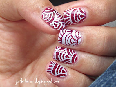 31 Days Challenge Day 1 - Red Nails: Zoya - Blaze & Winstonia stamping plate - W11