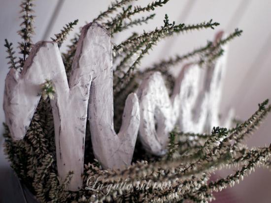 Insieme per natale tutto l 39 anno 5 scritta shabby chic in - Creare decorazioni per natale ...