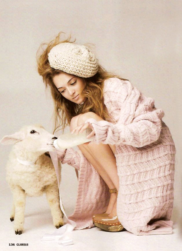 via fashioned by love | Glamour Germany | lambs in fashion editorials