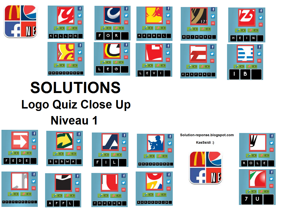 Logo Quiz Answers Close Up
