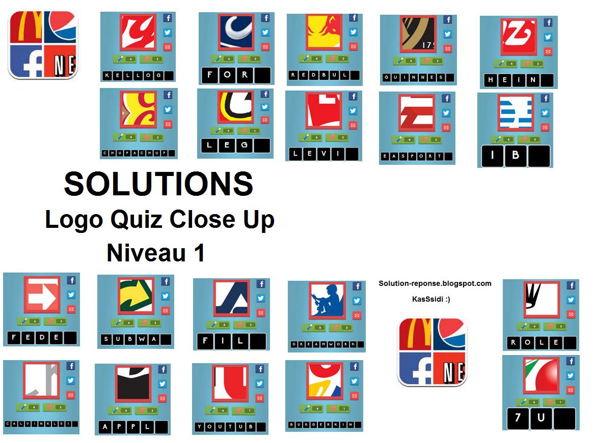 Solution Logo Quiz Close up niveau 1:
