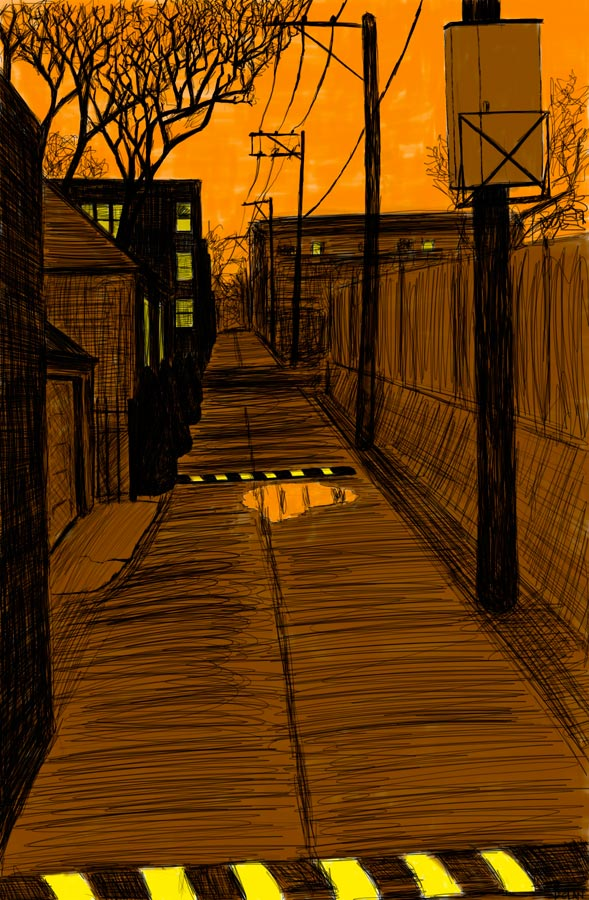 Doctor Ojiplático. William Dolan. Alley Studies (A Trip Through Chicago's OTHER Street Grid). Drawings