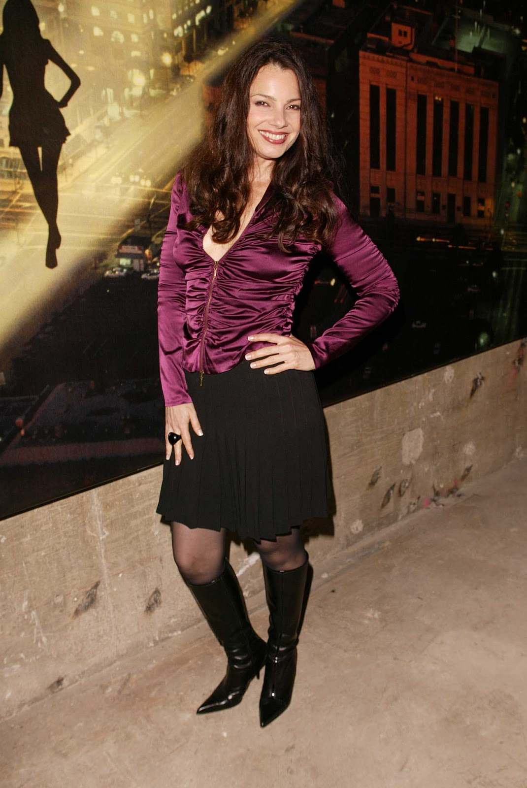 Fran Drescher   2003 10 29 Mercedes Benz Shows La Fashion Week Spring