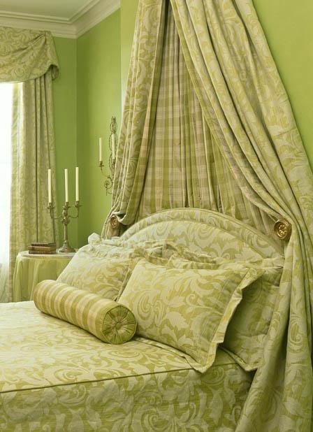 green and white bedroom mary douglas