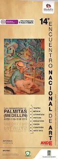 exposición de arte en el 14 Encuentro Nacional de Arte - Ande Colombia en San Sebastian de Palmitas