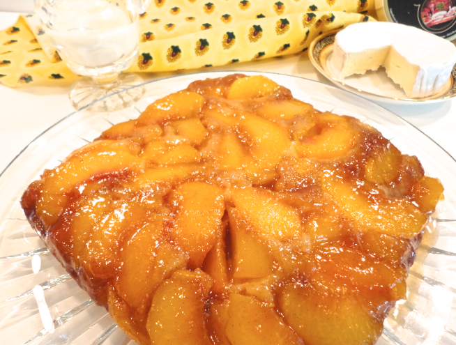 Mystery Lovers' Kitchen: Brunch Peach Cake ala Krista, but Gluten-free