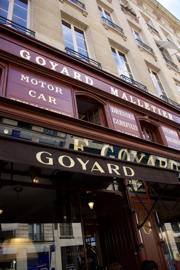 Goyard Storefront in Paris