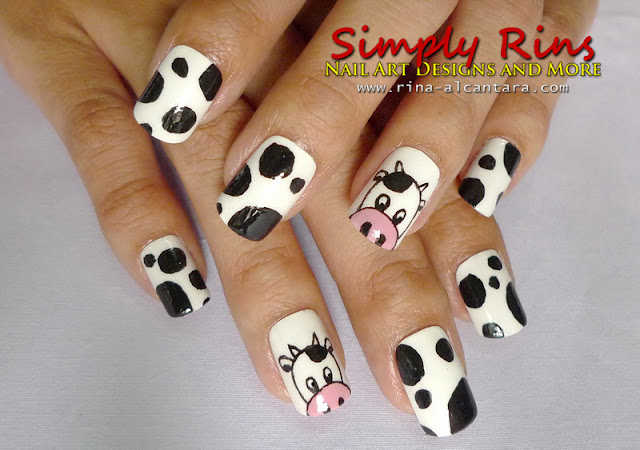 Easy Black And White Nail Designs Hairstyle Concept