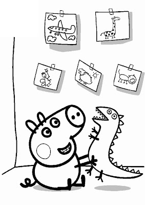 George Pig Coloring Pages for Kids