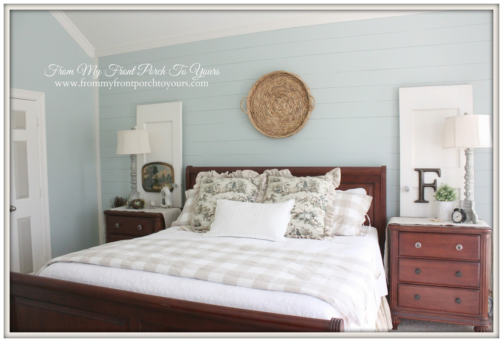 From My Front Porch To Yours- French Farmhouse Bedroom Target Basket