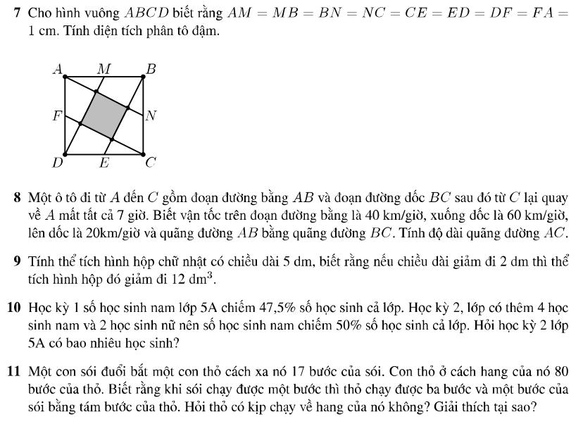 Đáp án đề thi môn toán vào lớp 6 trường Amsterdam 2009 - 2010