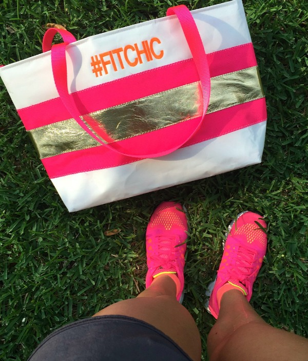 #fitchic Hayden Reis tote bag & Nike running shoes
