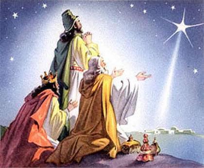 Reyes Magos arrodillados