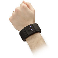 arm with ThinkGeek Wrist Charge Portable Battery