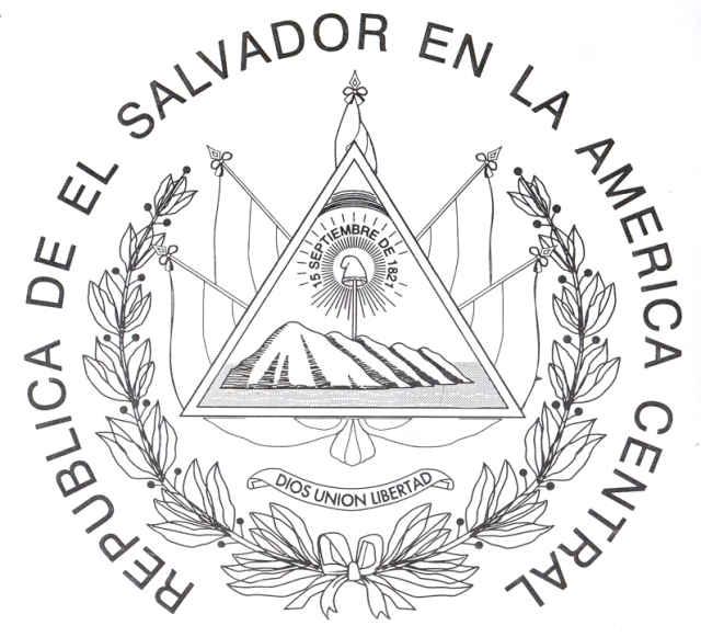 COLOREA TUS DIBUJOS: Dibujo del Escudo Nacional del Pais de El ...