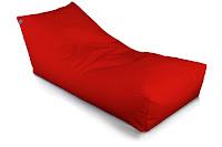 chaise longue di Sofa Soft in ecopelle di colore rosso