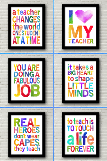 My latest printable bundle is all about teachers!