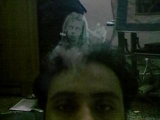 Hasil efek aplikasi ghost camera
