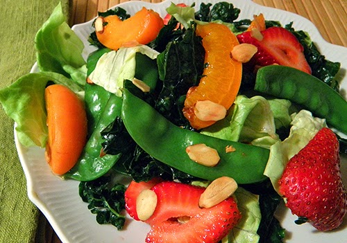 Plate of undressed salad