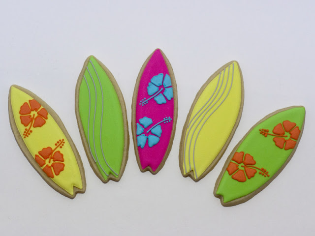 Surfboard cookies