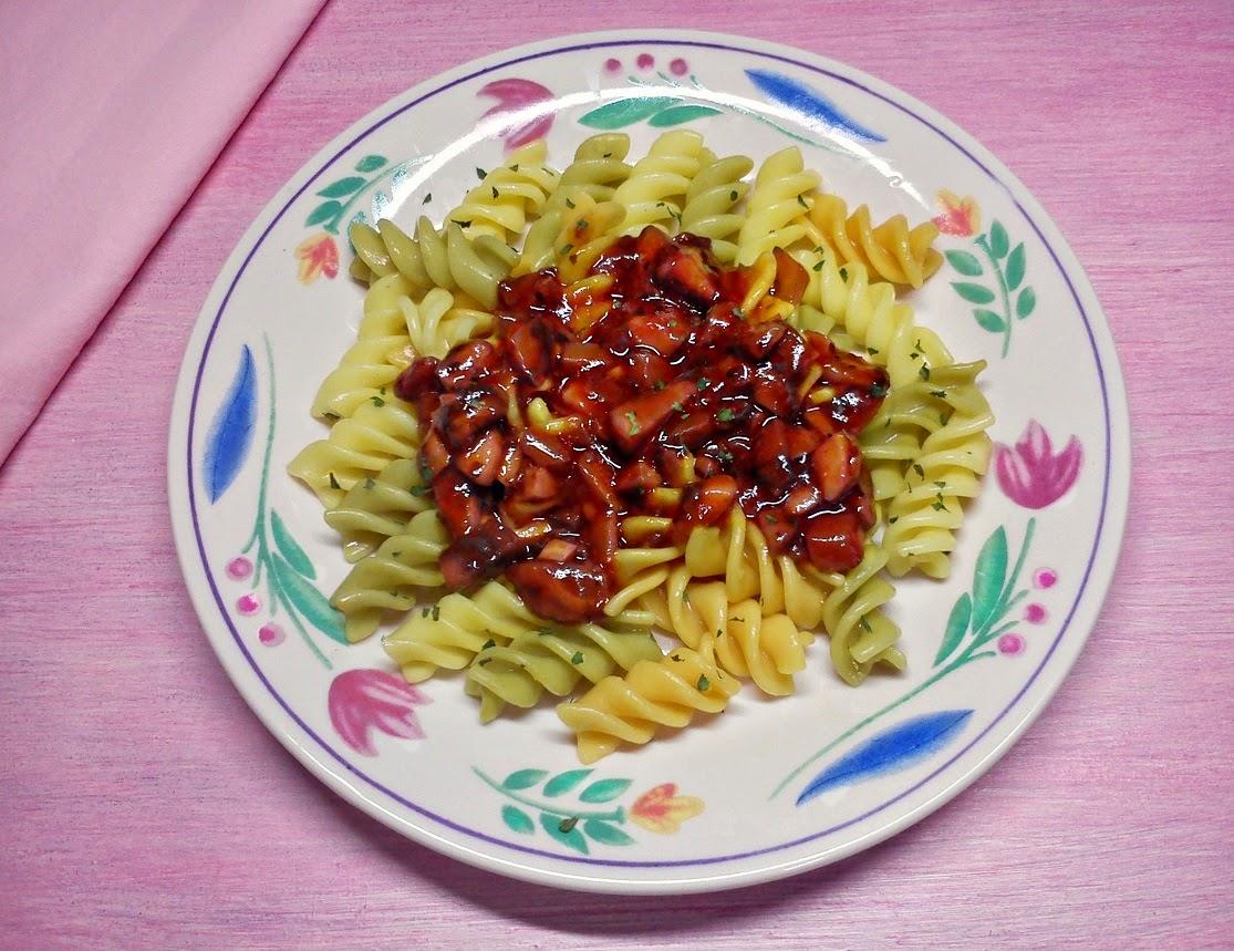 Boloñesa de Setas y Champiñones con Pasta