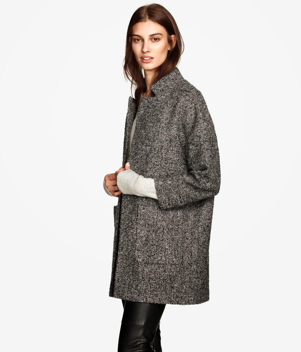 grey boucle coat, boucle coat 2015,