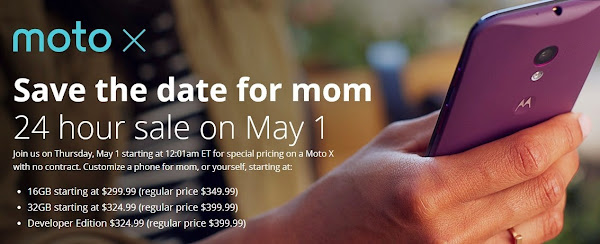 Motorola Moto X will be discounted to $299 on May 1